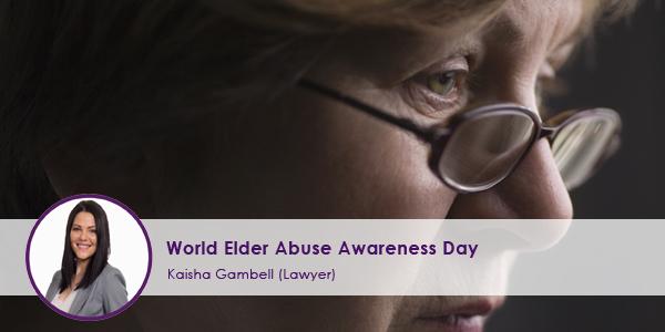 World Elder Abuse Awareness Day