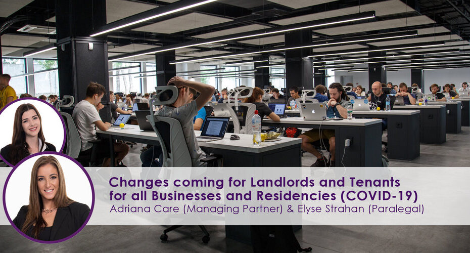 Changes Coming for Landlords & Tenants for all Businesses & Residencies