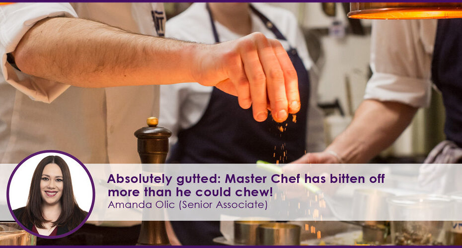 Master Chef has bitten off more than he could chew