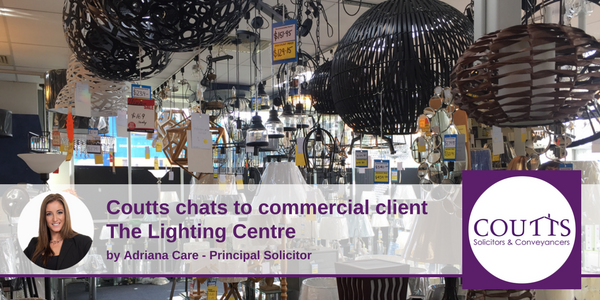 Coutts Chats to Commercial Client Lighting Centre