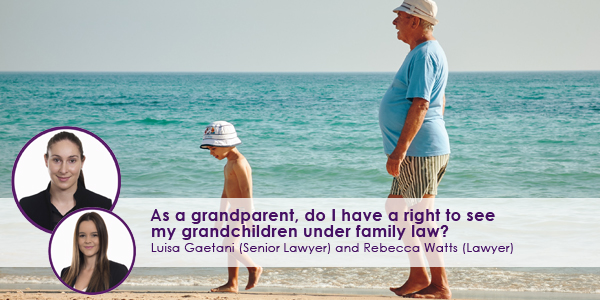 Child in Beach With Grandparent