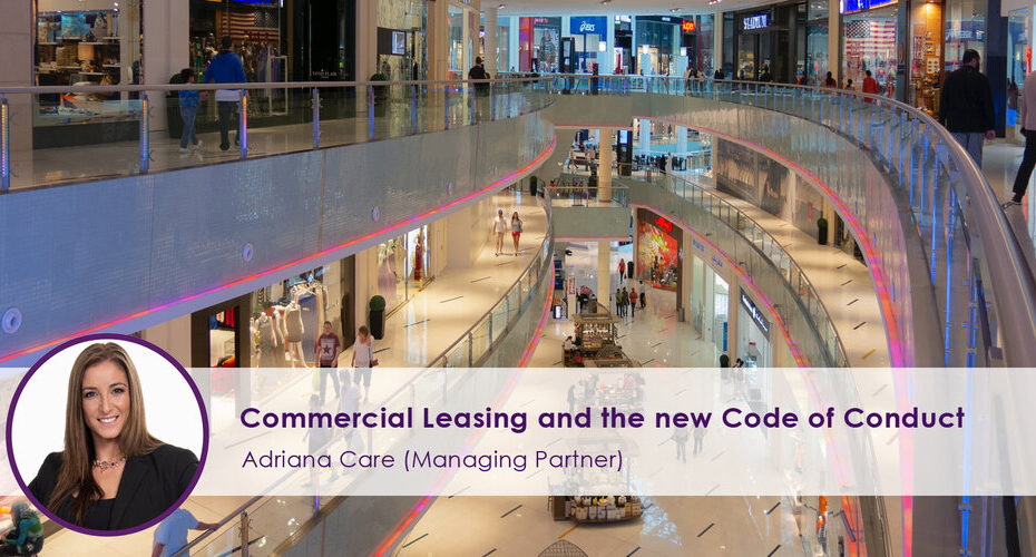 Commercial Leasing and the New code of Conduct