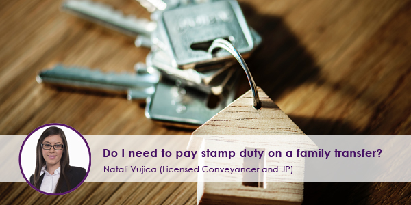 I need to pay stamp duty on family transfer?