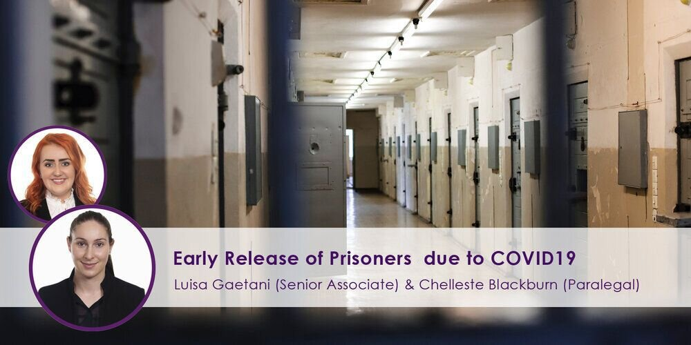 Early Release of Prisoners Due to COVID-19