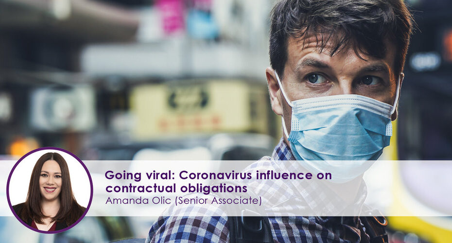 Coronavirus Influence on Contractual Obligations