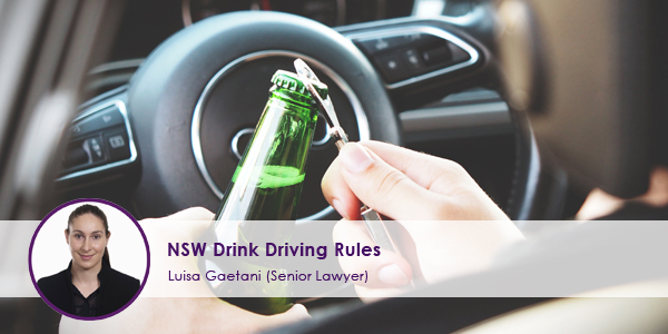 NSW Drink Driving Rules
