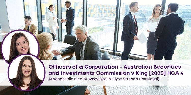 Australian Securities & Investments Commission V King