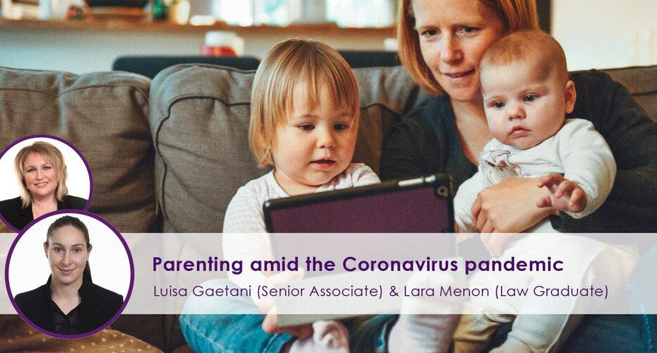 Parenting amid the Coronavirus Pandemic