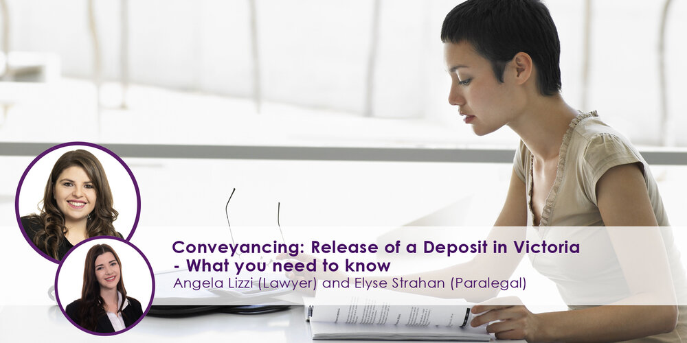 Release of a Deposit in Victoria