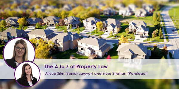 The A to Z of Property Law