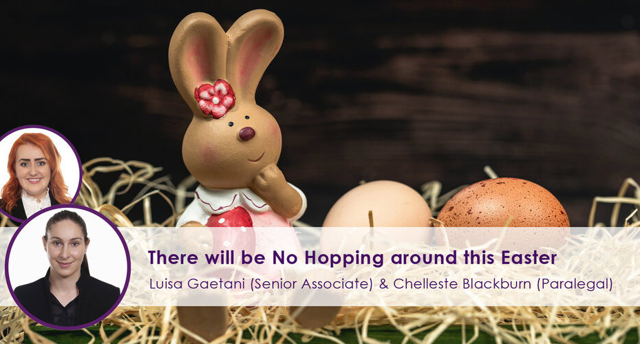 There Will be No hopping around this easter