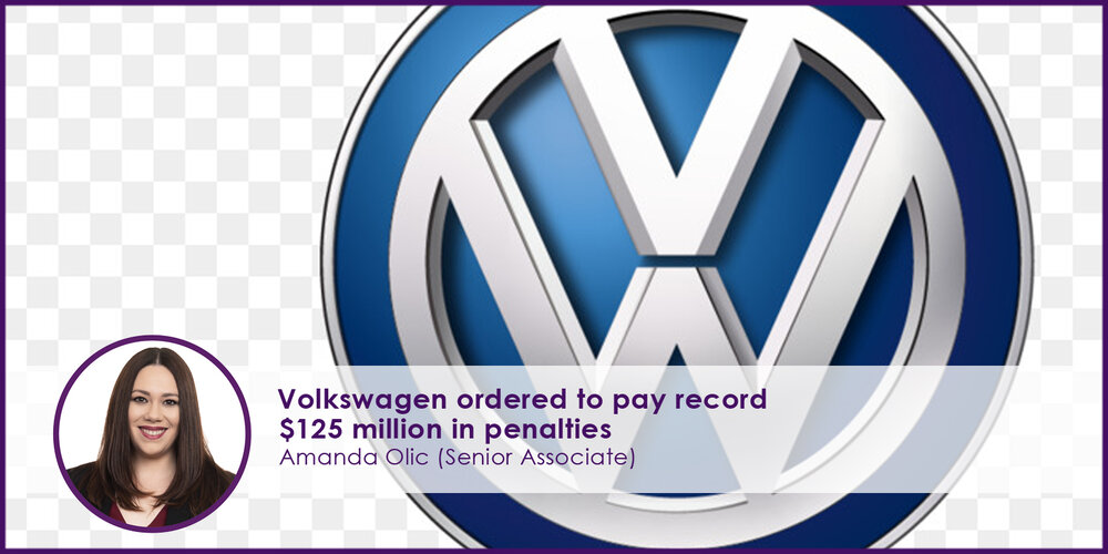 Volkswagen Ordered to Pay Record