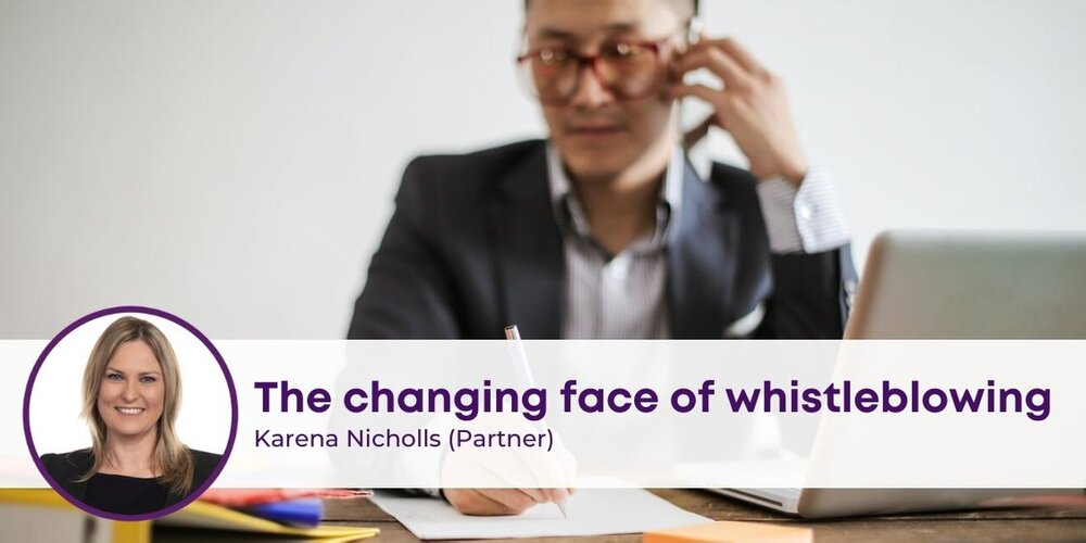 Changing face of Whistleblowing