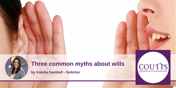 Three Common Myths about wills