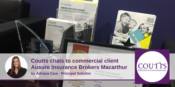 Coutts Chats to Commercial Client Ausure Insurance Brokers Macarthur