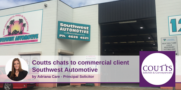 Coutts Chats to Commercial Client Southwest Automative
