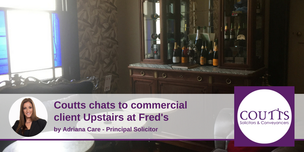 Coutts Chats to commercial client upstairs at fred's