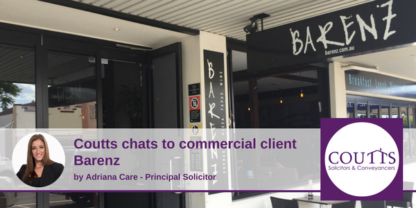 Coutts Chats to Commercial Client Barenz