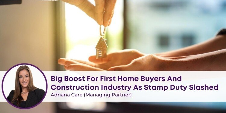 Big Boost for First Home Buyers & Construction Industry