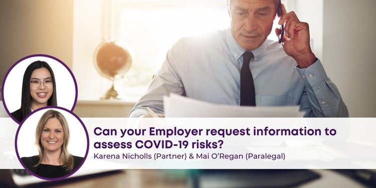 Employer Request Information to assess COVID-19 Risks