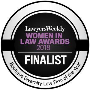 Lawyers Weekly Women in Law Awards 2018