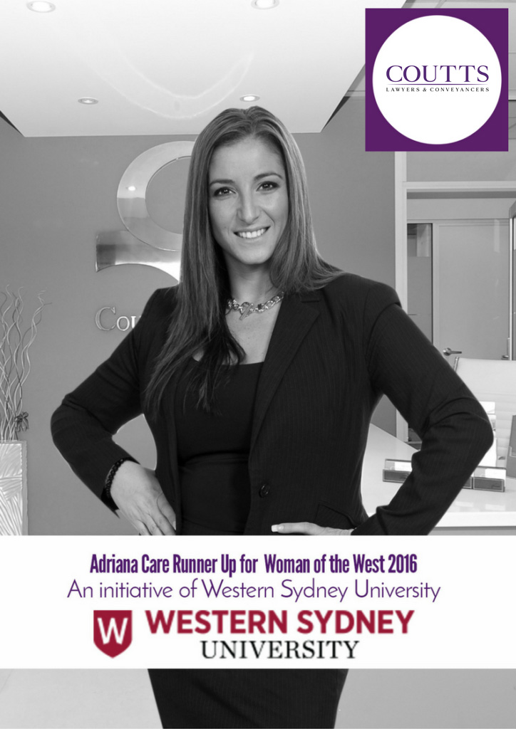 Adriana Care Runner Up for Woman of the West 2016