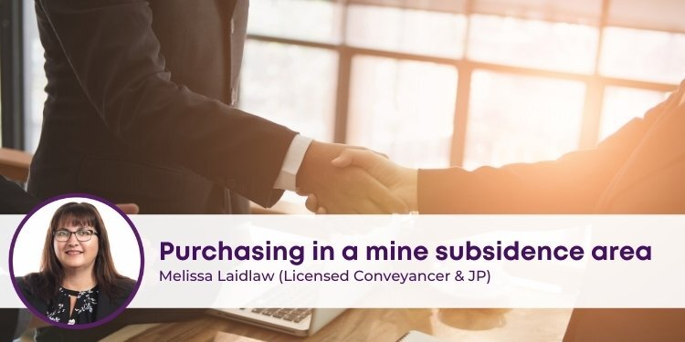 Purchasing in a Mine Subsidence area