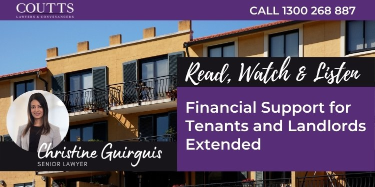 Financial Support for Tenants and Landlords Extended