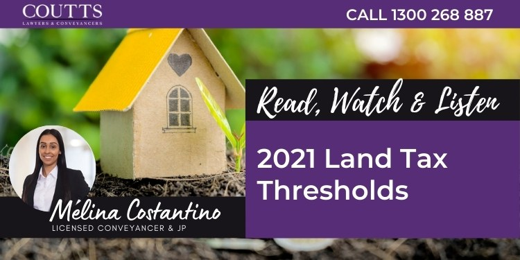 2021 Land Tax Thresholds