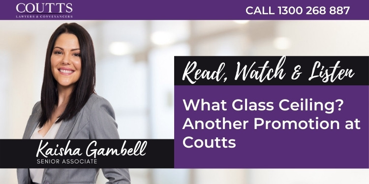 What Glass Ceiling - Another Promotion at Coutts