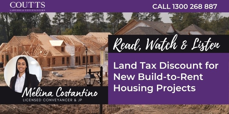 Land Tax discount
