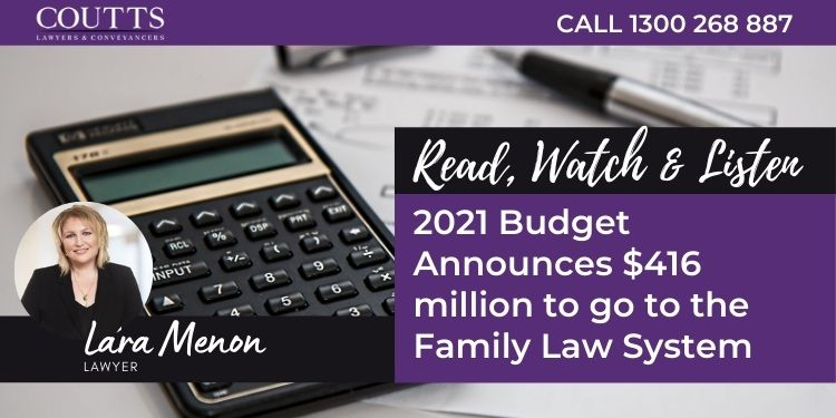 blog banner, 2021 Budget Announces $416 million to go to the Family Law System