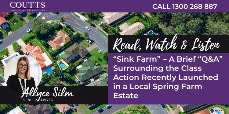 Class Action Recently Launched in a Local Spring Farm Estate