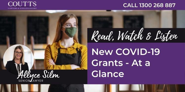 New COVID-19 Grants - At a Glance