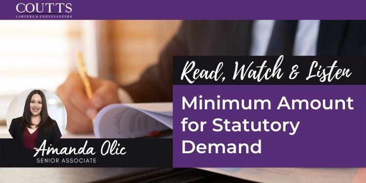 Minimum Amount for Statutory Demand