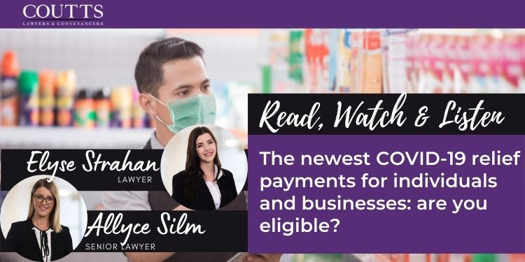 The newest COVID-19 relief payments for individuals and businesses: are you eligible?