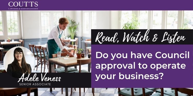 Do you have Council approval to operate your business?