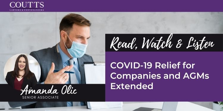 COVID-19 Relief for Companies and AGMs Extended