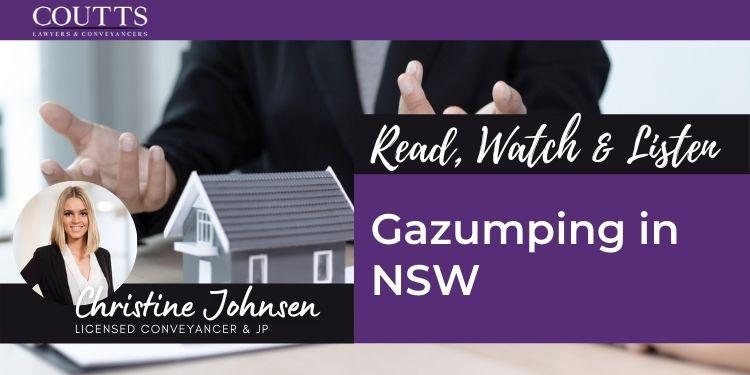 Gazumping in NSW
