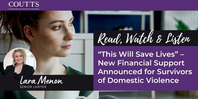 """""""This Will Save Lives"""" – New Financial Support Announced for Survivors of Domestic Violence"""